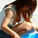 【胸チラ盗撮動画】陥没乳首が完全に両乳首とも見えてしまった巨乳の素人ギャルを隠し撮りww