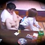 【ラブホ盗撮動画】上司と不倫…新人OLがラブホテルで制服姿のまま着衣セックスを隠しカメラ撮りww