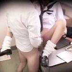 【万引き隠撮動画】親、警察、学校へ通報を恐れた女子校生…万引きGメンと性行為に中出しされた一部始終…