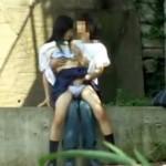 【青姦隠撮動画】周りの目も気にせず河原でセックスをする女子校生カップルを対岸から隠し撮りww